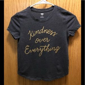 "Old Navy girls ""Kindness Over Everything"" t-shirt"
